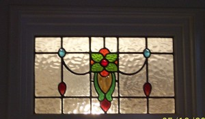 Stained glass transom in Victorian
