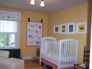 Victorian - bright happy nursery.