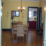 Victorian Dining Room after new paint and refinished floors.