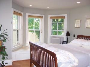 Wonderful cedar lined bay window seat.