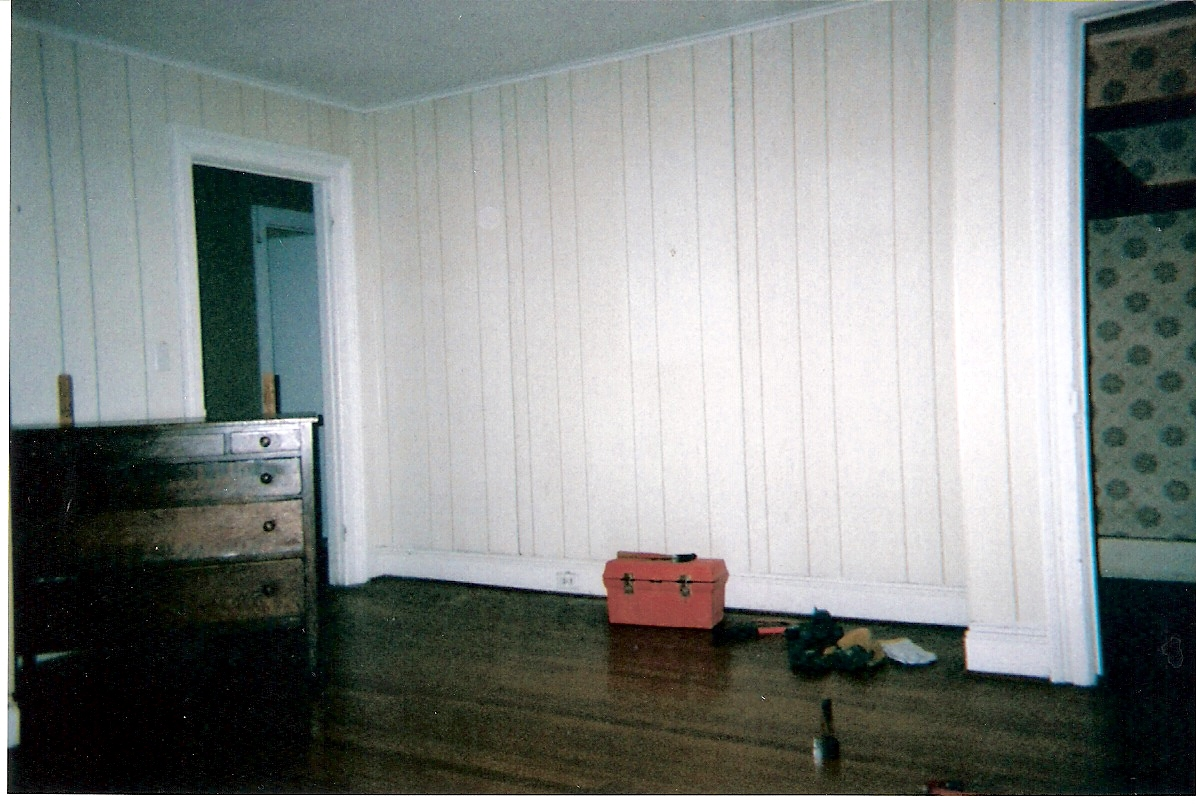 Goodbye faux white washed, faux wood paneling. - Goodbye Faux White Washed, Faux Wood Paneling. - Interior
