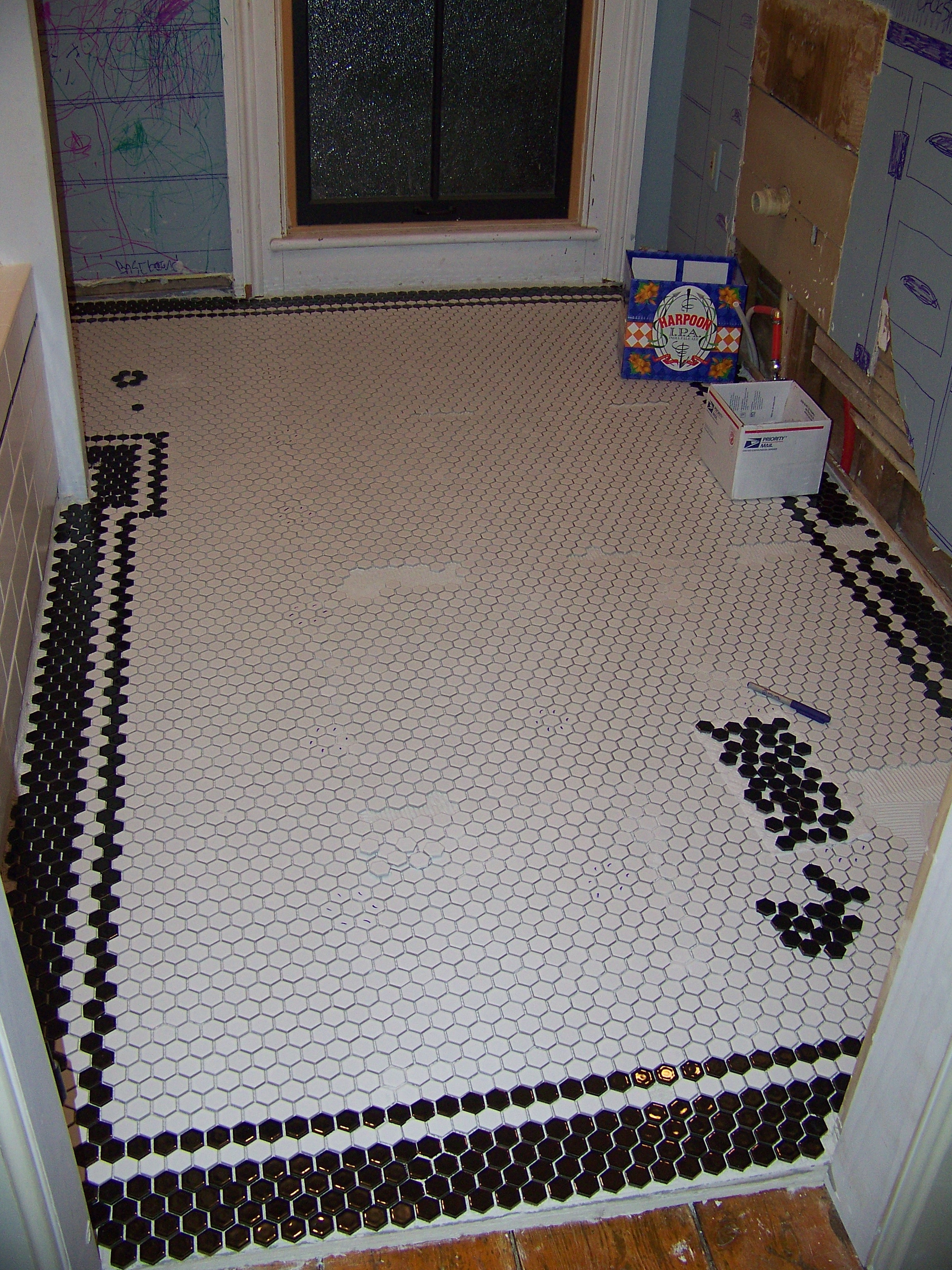 Hexagon Tile Floor With Border - Tile Designs