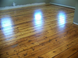 Floors after installation and refinishing