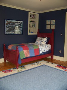 Book nook with new paint
