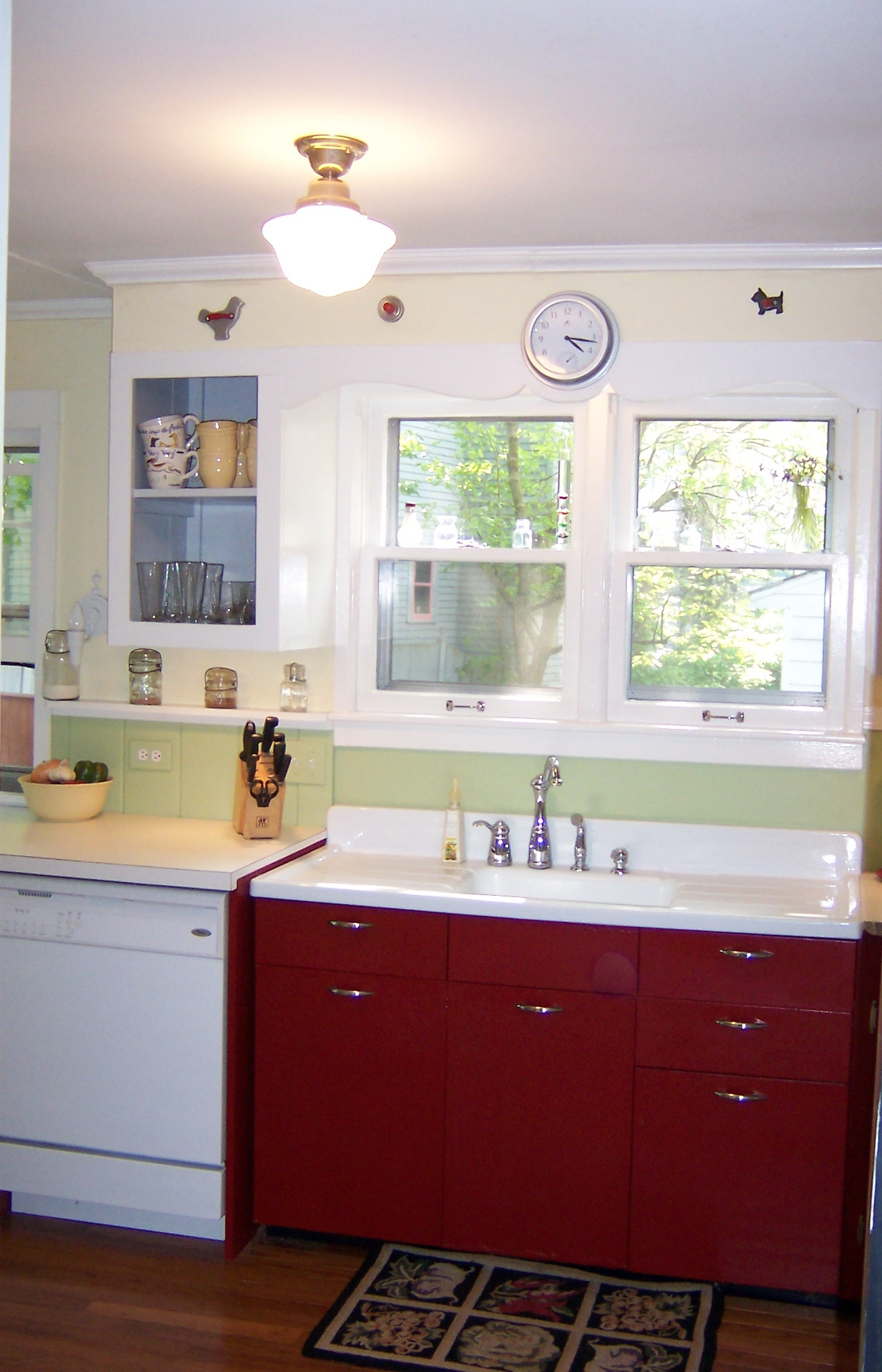 Victorian style faucet, new dishwasher/countertop and new light ...