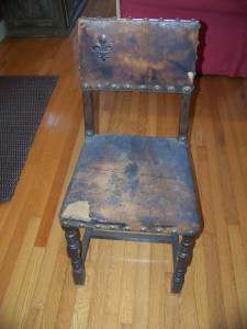 "My very ""valuable"" chair pre-makeover"