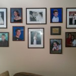 Photo wall with new frames and new layout