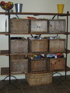 apple crate storage