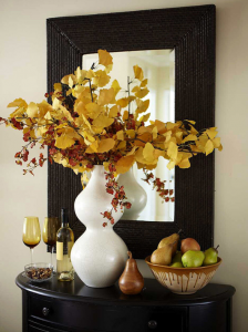 fall floral display
